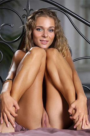 Kinky Skinny Teen Nude On Her Bed