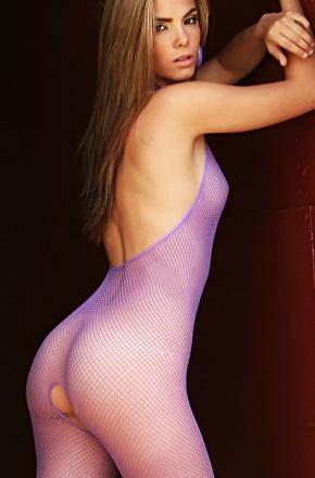 Alexandria In Purple Fishnet