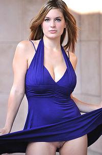 Danielle In Sexy Blue Dress