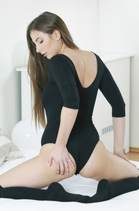 Connie Carter Stockings And Bodysuit