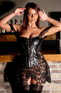 Nikki In Black Corset